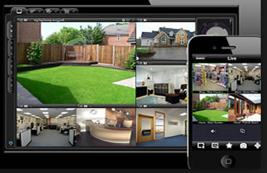 CCTV networked to phone I pad is a good way to check property whilst on holiday: Swipe To View More Images