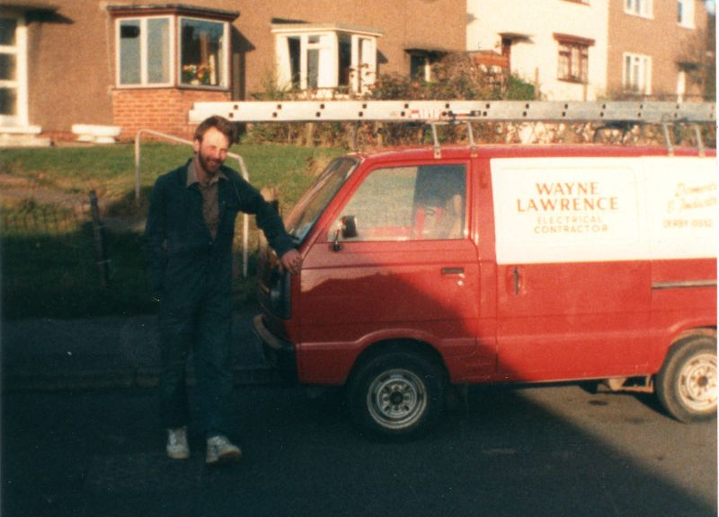 This was our 2nd van pic took 1988 rewiring Breadsall  Derby: Swipe To View More Images