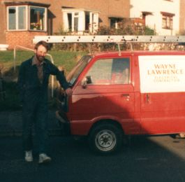 This was our 2nd van pic took 1988 rewiring Breadsall  Derby: Click Here To View Larger Image